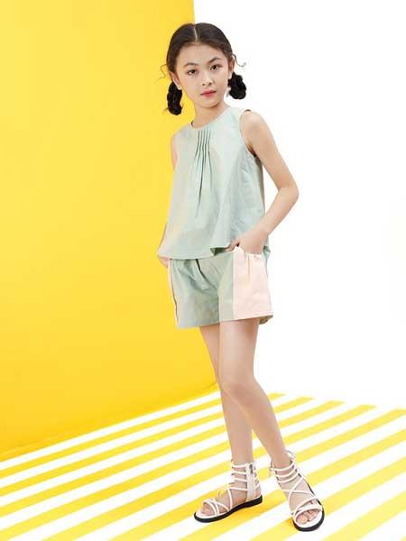 艾宝依童装品牌2020春夏女童时尚可爱套装裙