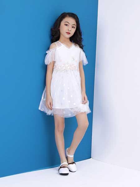 艾宝依童装品牌2020春夏女童时尚可爱连衣裙