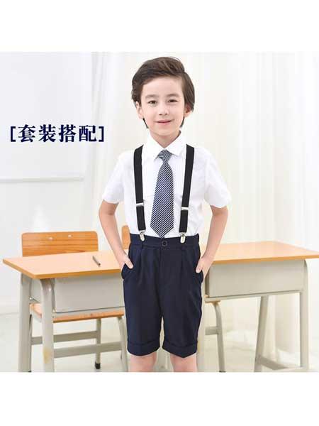 若可可童装品牌2020春夏儿童西裤短裤男童黑色中裤英伦礼服中大童学生藏青色五分裤子