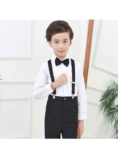 若可可童装品牌2020春夏儿童长裤子男童黑色西装裤中大童小学生英伦校裤演出服
