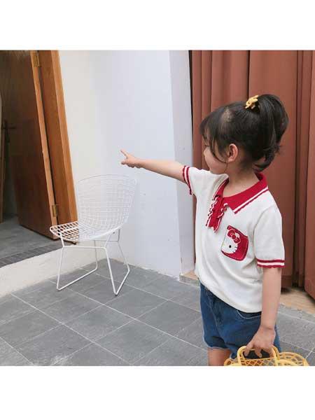 YINERBABY童装品牌2020春夏新品男女童纯棉短T卡通小兔宝宝印花半袖上衣