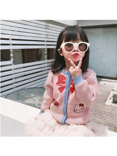 YINERBABY童装品牌2020春夏童装甜美蝴蝶结铃铛纯棉针织衫