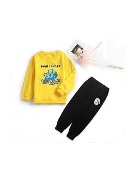 欣轩童装品牌2020春夏童装卫衣儿童套装纯棉童套装爆款 春夏款童装