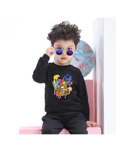 欣轩童装品牌2020春夏童装春款新品 儿童长袖t恤 纯棉儿童打底衫宝宝长袖