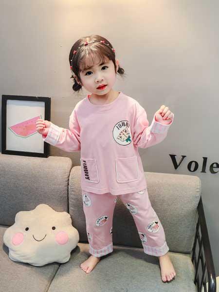 小豪霸内衣童装品牌2020春夏新款儿童家居服全棉 女童韩版卡通圆领睡衣套装3~8岁女宝宝