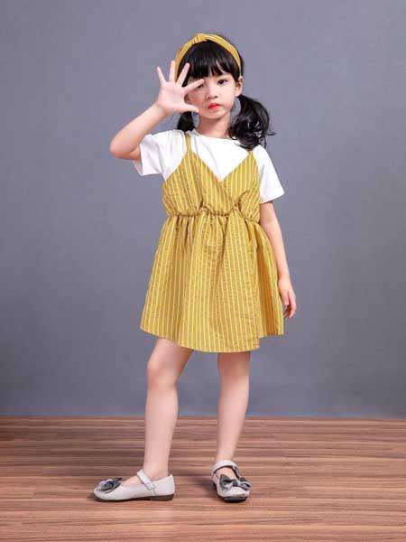 宠来宠趣童装品牌2020春夏女童纯棉时尚背带裙