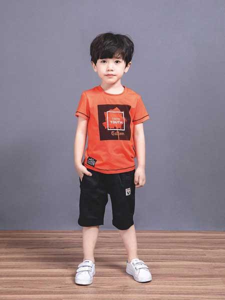 �����趣童�b品牌2020春夏男童印花短袖