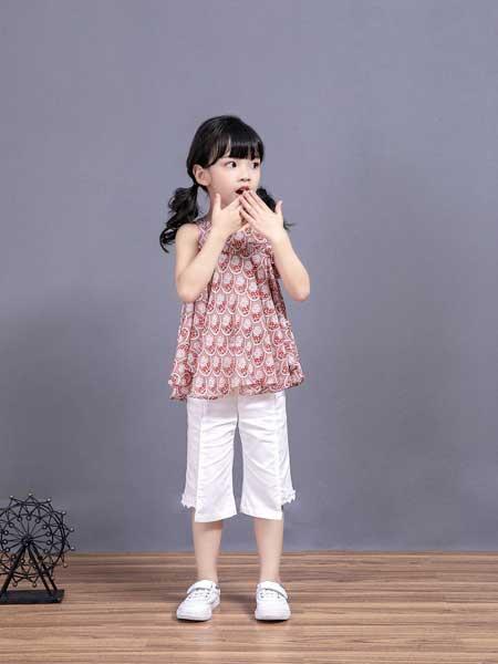 宠来宠趣童装品牌2020春夏女童纯棉无袖短袖