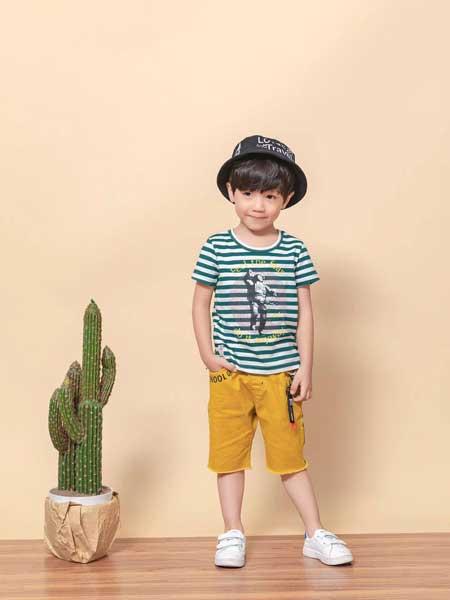 宠来宠趣童装品牌2020春夏男童印花短袖