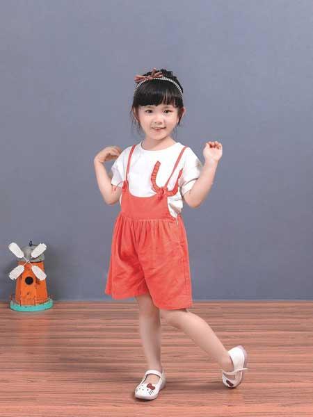 宠来宠趣童装品牌2020春夏女童时尚背带裤