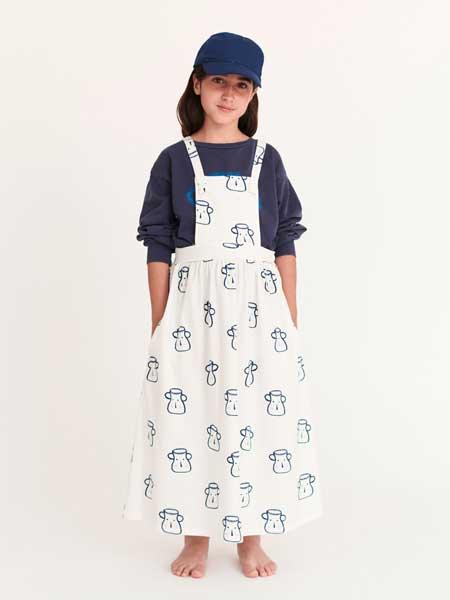 Weekend House童装品牌2020春夏卡通图案背带裤