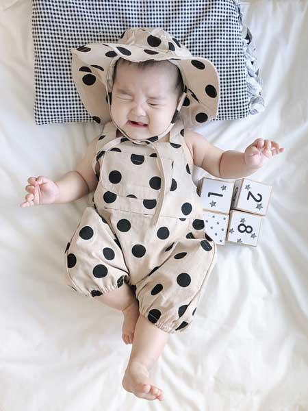衣念你童装品牌2020春夏新款男女宝宝纯棉爬爬服 婴幼童带帽洋气婴童装童装