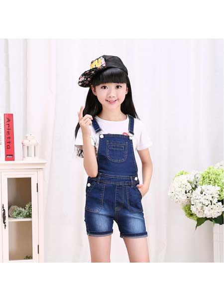潮童酷仔童装品牌2020春夏牛仔背带裤短裤