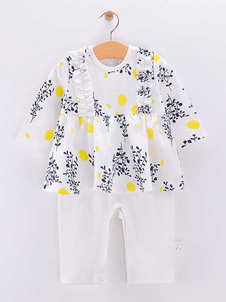 欢喜小熊童装品牌2020春夏婴儿连体衣纯棉薄款新生儿衣服夏装睡衣空调服女宝宝哈衣