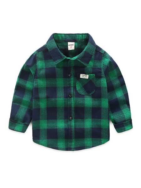 瓯依童装品牌2020春夏儿童衬衫男童长袖装韩版休闲纯棉格子衬衫中小童装