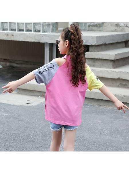 草房子童装品牌2020春夏新款中大童时尚宽松长袖圆领上衣儿童百搭打底衫