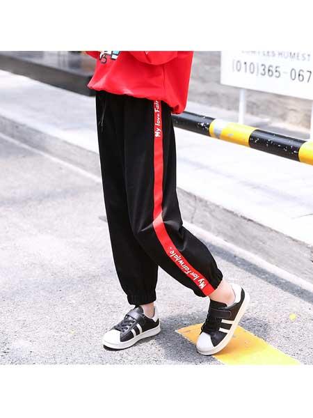 草房子童装品牌2020春夏时尚休闲运动裤
