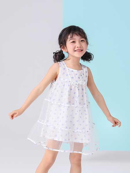 金点·韩e童社童装品牌2020春夏无袖连衣裙