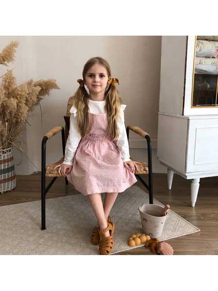 BIEN A BIEN童装品牌2020春夏女童甜美背带裙