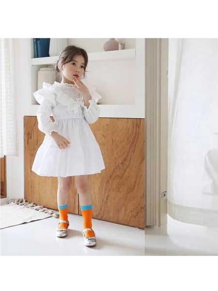BIEN A BIEN童装品牌2020春夏纯白清新连衣裙