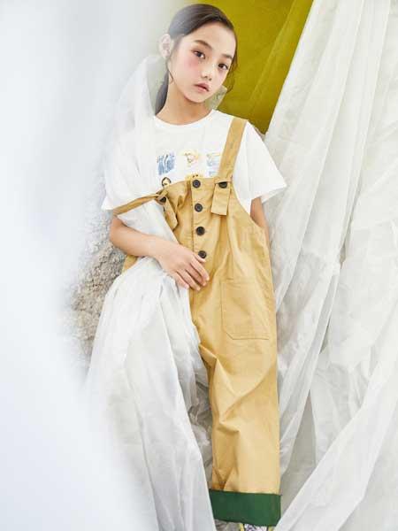 艾米艾门童装品牌2020春夏个性女童背带裤