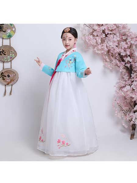 汉月坊童装品牌2020春夏新款儿童舞蹈服装韩服女童朝鲜族舞蹈服装大长今民族舞蹈演出服装
