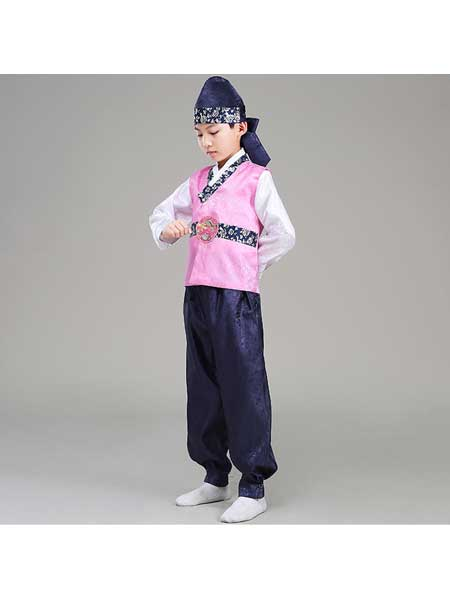 汉月坊童装品牌2020春夏新款男童韩国帽子朝鲜族演出服