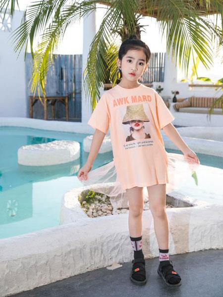 Maomier猫咪儿童装品牌2020春夏印花纯棉T恤