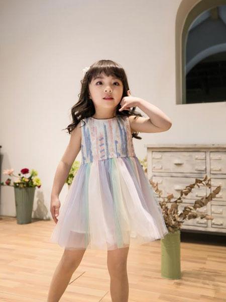 Maomier�咪�和��b品牌2020春夏�r尚��性女童�B衣裙