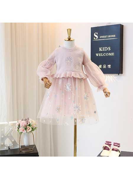 宝贝么么哒童装品牌2020春夏女童长袖衬衫洋气春季时尚儿童韩版洋气宝宝衬衣半裙套装