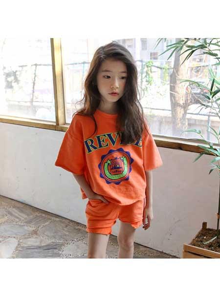 鑫玥童装品牌2020春夏儿童夏款套装新款中大童男女童通穿全棉休闲运动套装亲子