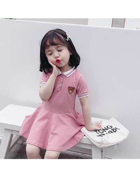 悠悠之星童装品牌2020春夏女童夏装儿童学院风连衣裙女宝宝公主裙小女孩洋气裙子潮