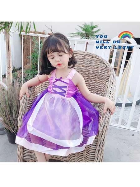 悠悠之星童装品牌2020春夏女童连衣裙儿童裙子中小童洋气夏装小女孩网红蓬蓬裙