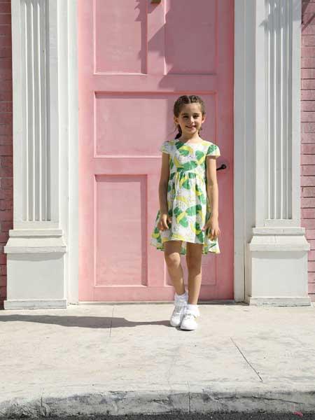 芭乐兔童装品牌2020春夏森系小女孩连衣裙