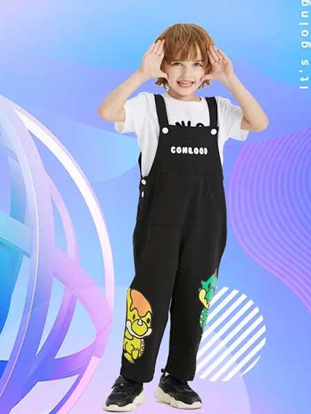 龙宝部落Conlood童装品牌2020春夏男童休闲背带裤