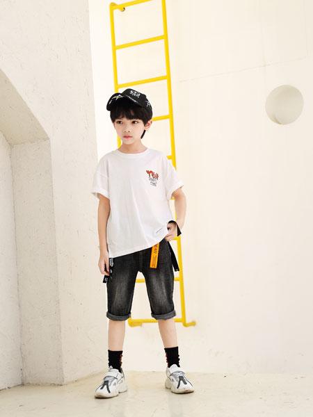可趣可奇童装品牌2020春夏男童纯棉印花T恤
