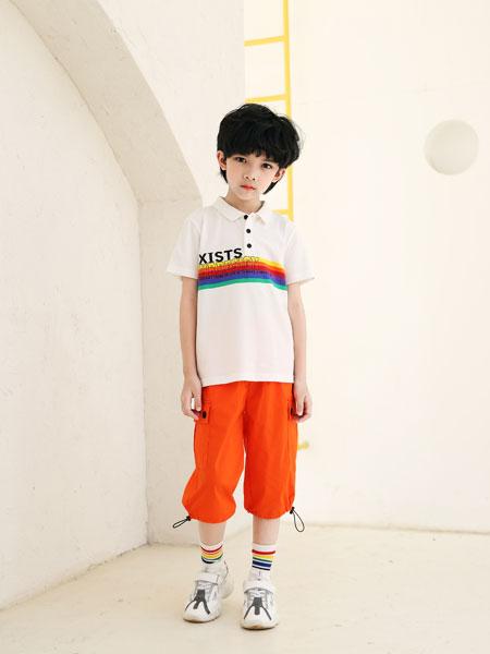 可趣可奇童装品牌2020春夏男童纯棉印花T恤polo衫短袖