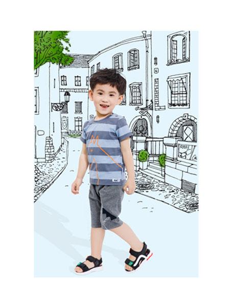 铅笔俱乐部童装品牌2020春夏男童纯棉运动套装