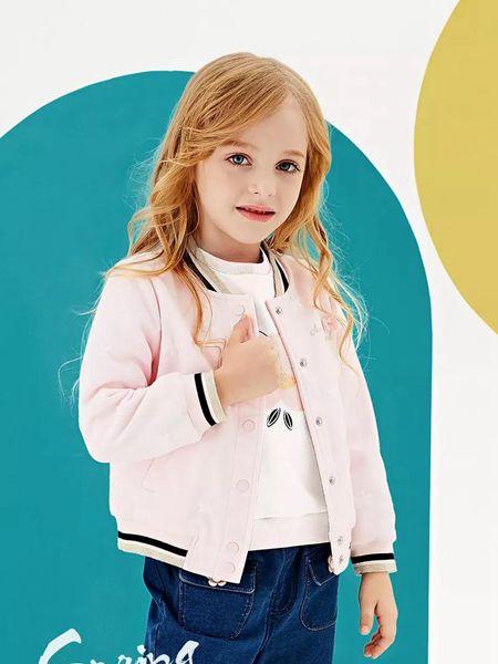 安奈儿童装品牌2020春夏新款休闲女童夹克衫