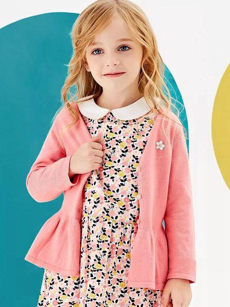 安奈儿童装品牌2020春夏女童针织开衫外套