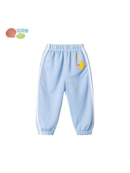 贝贝怡童装品牌2020春夏洋气长裤2020夏季新款宝宝轻薄透气防蚊裤家居空调裤