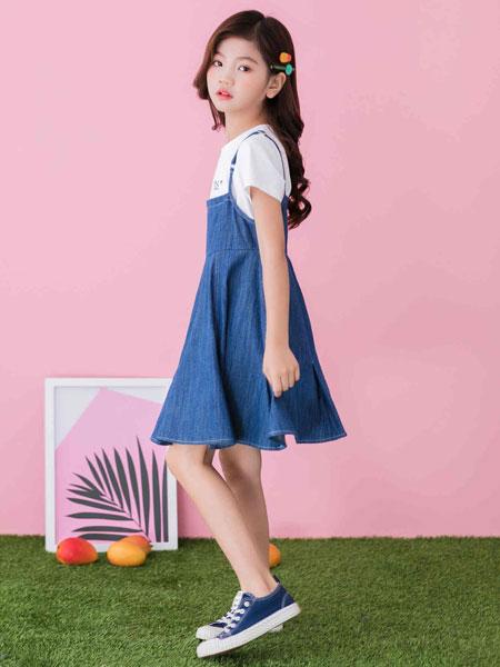 思贝秀童装品牌2020春夏可爱活泼背带裙