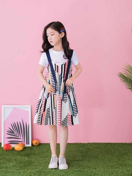 思贝秀童装品牌2020春夏女童可爱背带裙