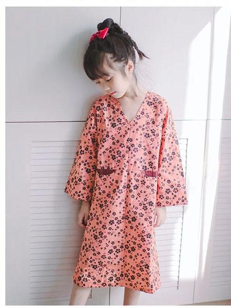 禾陶成衣童装品牌2020春夏长款女童清新长款衬衫