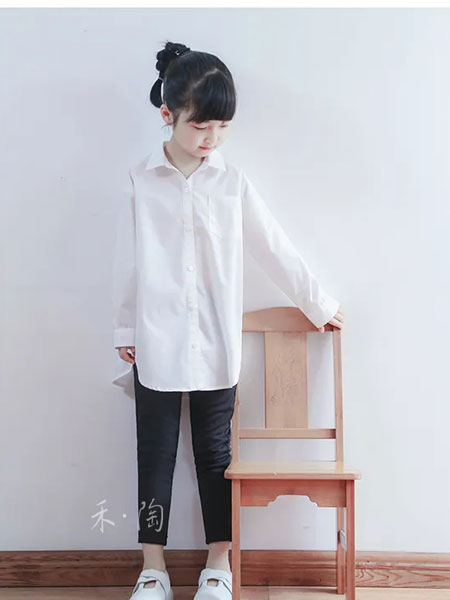 禾陶成衣童装品牌2020春夏纯色休闲衬衣