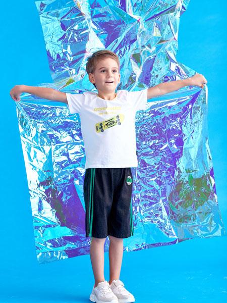 小鲨诺拉童装品牌2020春夏男童纯棉短袖T恤