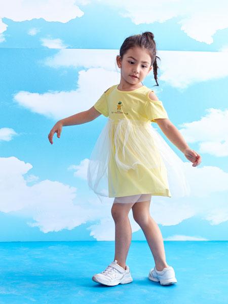 小鲨诺拉童装品牌2020春夏网纱女童连衣裙