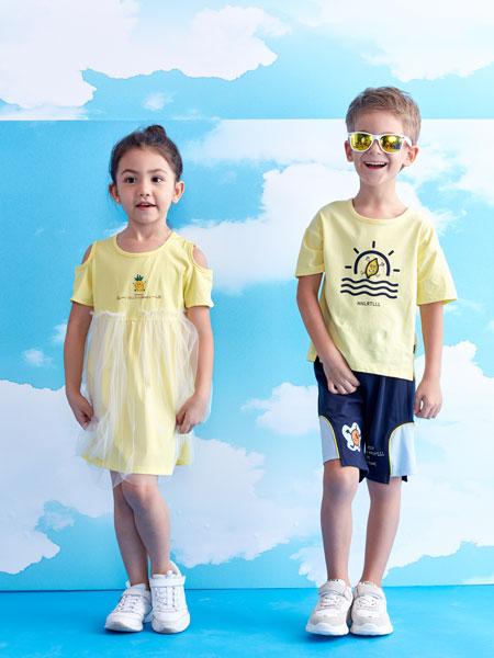 小鲨诺拉童装品牌2020春夏男童印花T恤