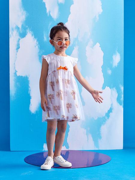 小鲨诺拉童装品牌2020春夏女童纯棉宽松连衣裙