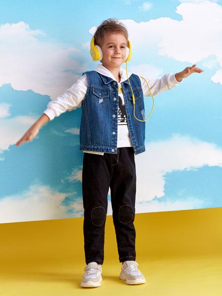 小鲨诺拉童装品牌2020春夏休闲马甲夹克衫外套